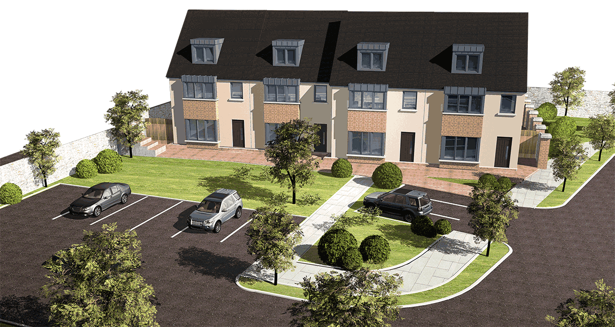 architectural illustration kildare, architectural cgi's kildare, 3d rendering, architectural photomontage
