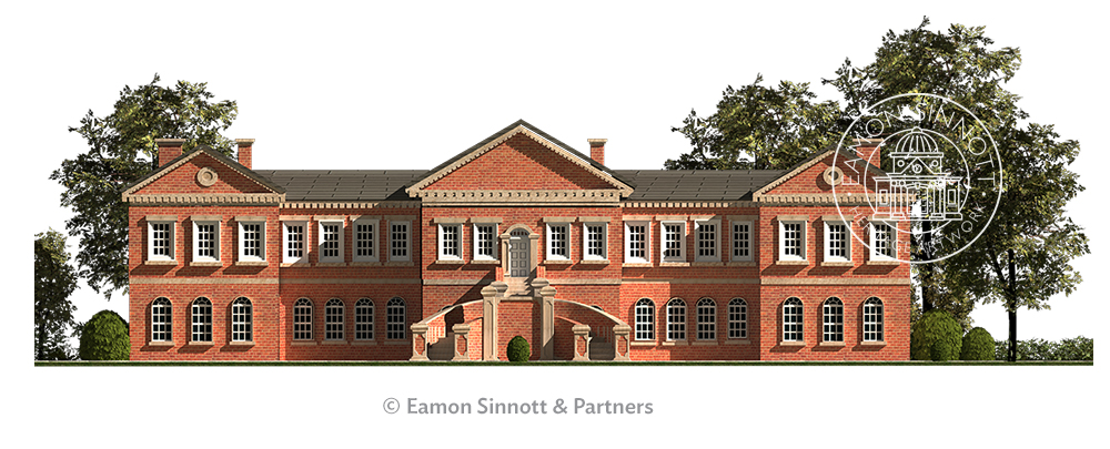 curragh hospital-sinnottdesign-kildarearchitectural illustration